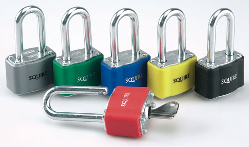 Padlocks - 39 mm shackle silver padlock keyed differently
