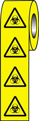 25 x 25 biohazard symbol signs.