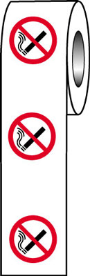 40 Diameter no smoking symbol signs.
