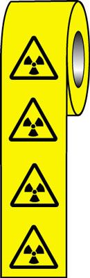 50 x 50 radioactive symbol signs.