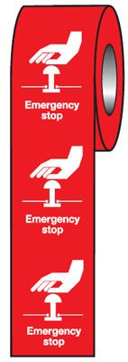 75 x 55 emergency stop (red)
