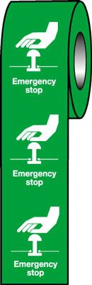 75 x 55 emergency stop (green)