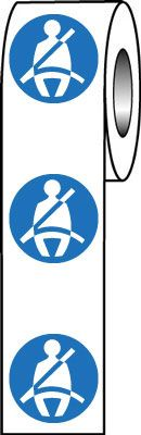 50 x 50 wear seatbelt symbol signs.