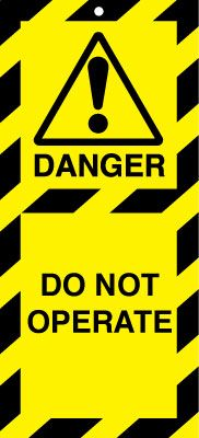 Uk lockout signs - 50 x 110 do not operate lock out tags