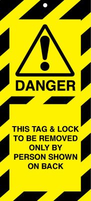 Uk lockout signs - 50 x 110 this tag and lock to be removed