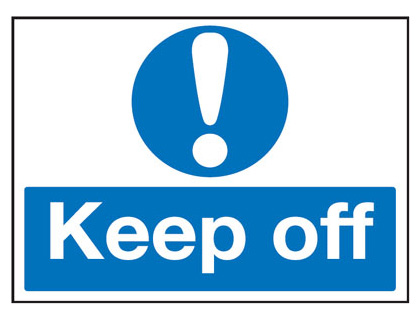450 x 600 mm keep off 2 mm foamed plastic