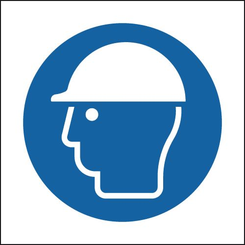 300 x 300 mm Helmet Symbol Safety Labels