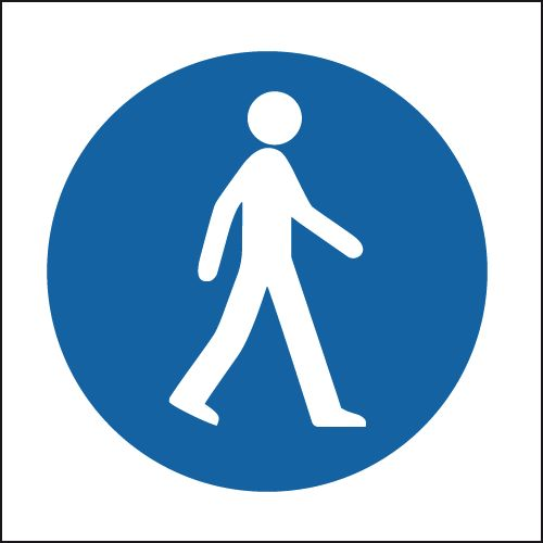 UK pedestrian labels - 300 x 300 mm pedestrians SYMBOLS self adhesive vinyl labels.