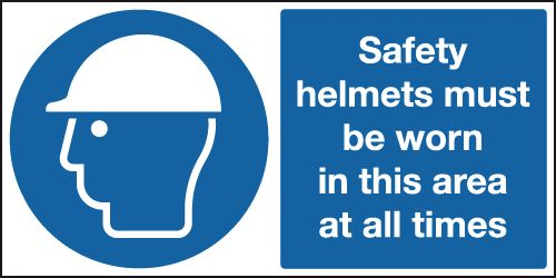 300 x 600 mm Safety Helmets Must Be Worn In Safety Signs