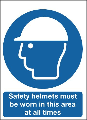 400 x 300 mm Safety Helmets Must Be Worn In Safety Labels