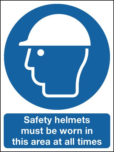 600 x 450 mm Safety Helmets Must Be Worn In Safety Signs