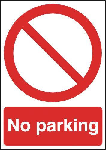 A5 no parking self adhesive vinyl labels.
