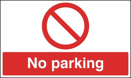 100 x 200 mm no parking self adhesive vinyl labels.