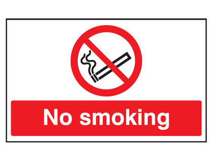 UK smoking signs - 300 x 500 mm no smoking anti slip self adhesive label