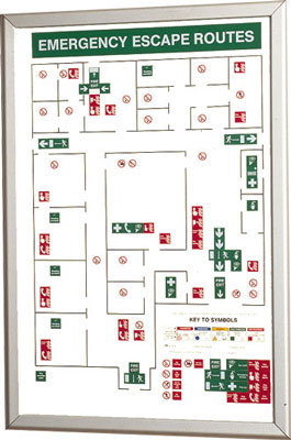 Fire exit signs - 594 x 841 large emergency escape plan
