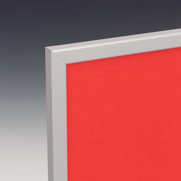 Eco Notice Board Alum Frame 600 x 900 mm Red