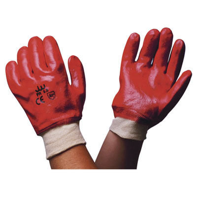 pvc coated gloves 10