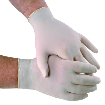 powdered latex gloves box 100 L Large large