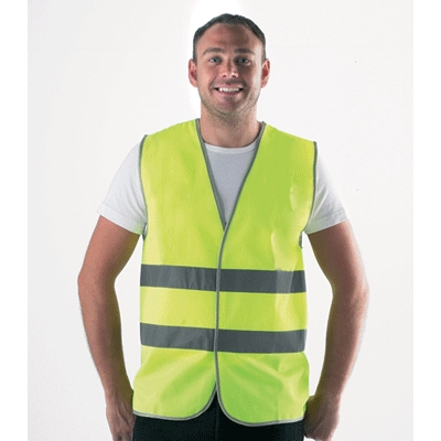 high vis 2 band waistcoat L Large yellow