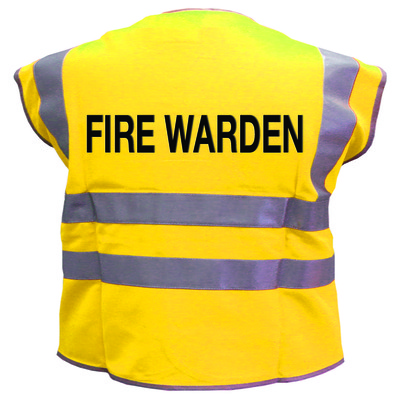 Hi vis clothing - hiv 2 bndbrc fire warden wcoat M yellow m