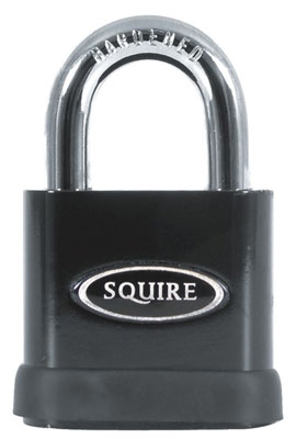 high-security padlock open shackle
