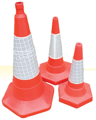 1000 mm sand weighted traffic cone