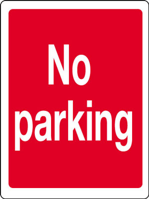 400 x 300 mm no parking