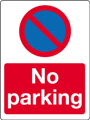 400 x 300 mm no parking (with symbol)