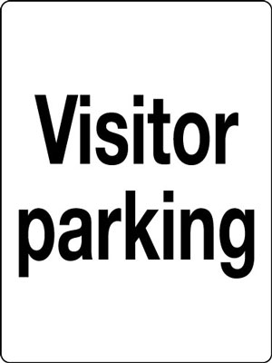400 x 300 mm visitor parking