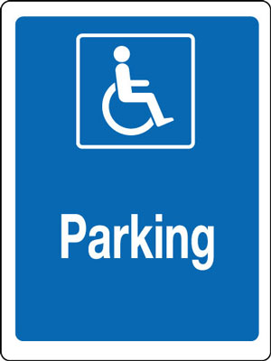 400 x 300 mm disabled parking