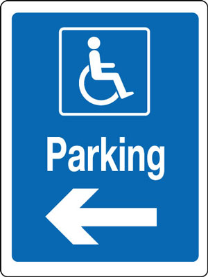 400 x 300 mm disabled parking left