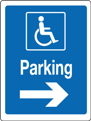 400 x 300 mm disabled parking right