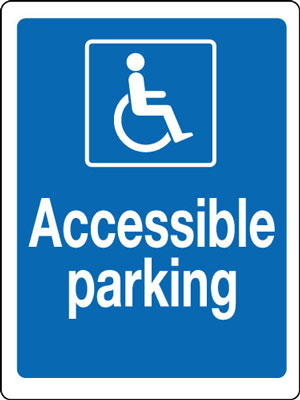 400 x 300 mm disabled accessible parking