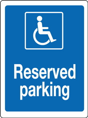 400 x 300 mm disabled reserved parking