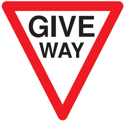 give way 600 mm VR sign
