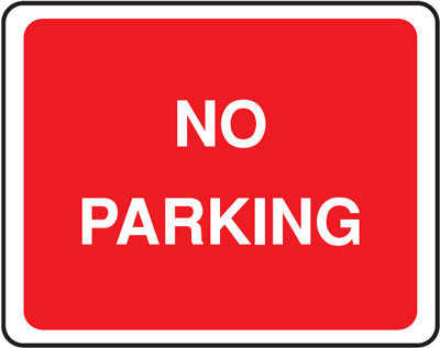 no parking 300 x 400 mm VR sign