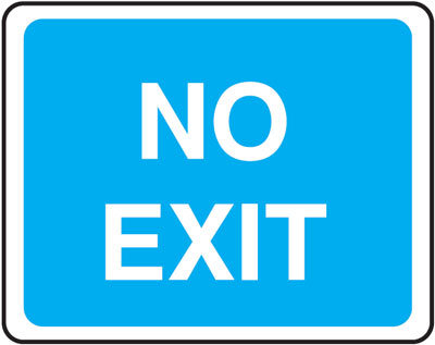 no exit 300 x 400 mm VR sign