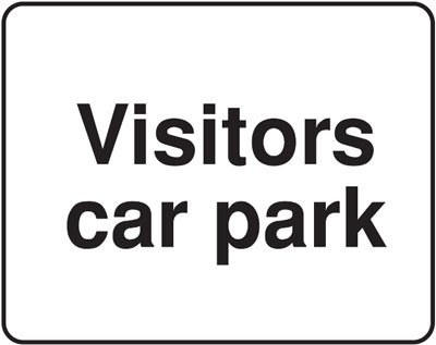 visitors car park 300 x 400 mm VR sign