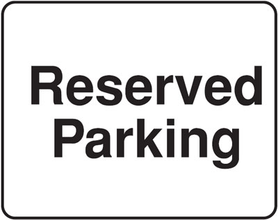 reserved parking park 300 x 400 mm VR sign