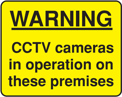 warning cctv 300 x 400 mm VR sign