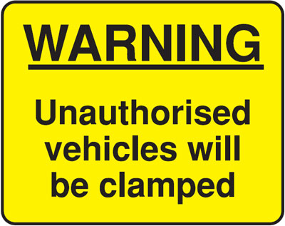 warning unauthorised 300 x 400 mm VR sign