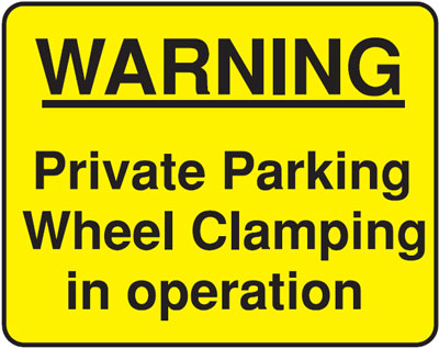 warning private 300 x 400 mm VR sign