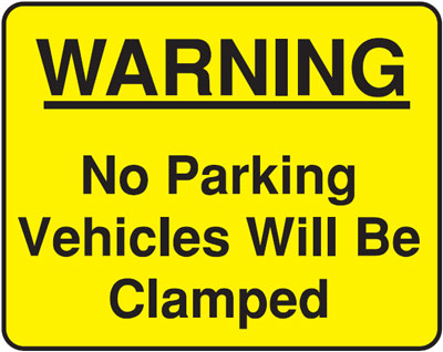 warning no parking 300 x 400 mm VR sign