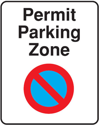 permit parking 300 x 400 mm VR sign
