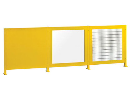 Vision barrier solid panel yellow