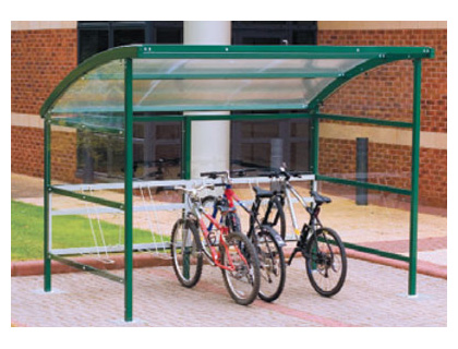 Premier cycle shelter perforated blue