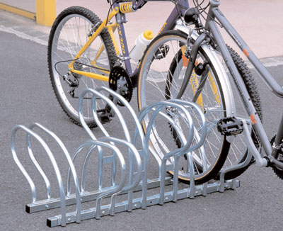 Double sided cycle rack 6 bikes