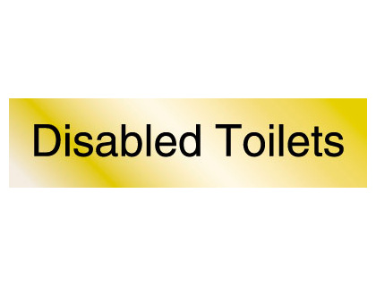 40 x 160 mm brass disabled toilets engraved
