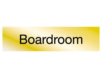 40 x 160 mm brass engraved sign boardroom