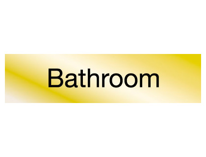 40 x 160 mm brass engraved sign bathroom